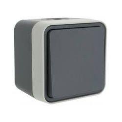 cubyko bouton poussoir 1O/1F saillie gris