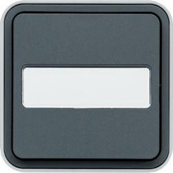 cubyko bouton poussoir porte-étiq 1F saillie gris