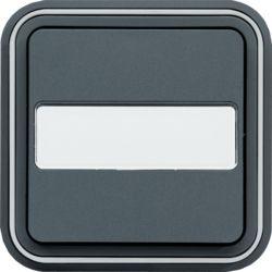 cubyko bouton poussoir porte-étiq 1F encast. gris
