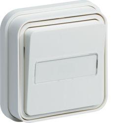 cubyko bouton poussoir porte-étiq 1F encast. blanc