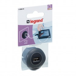 Chargeur adaptateur USB - Anthracite / Legrand