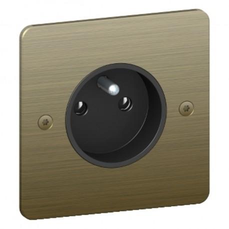 s800059bm prise de courant 2p t sequence 5 bronze schneider. Black Bedroom Furniture Sets. Home Design Ideas