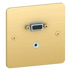 Prise HD15 + mini jack Sequence 5 - Bronze / Schneider