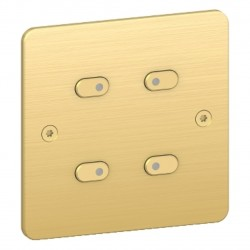 KNX Quatre poussoirs LED Sequence 5 - Bronze / Schneider
