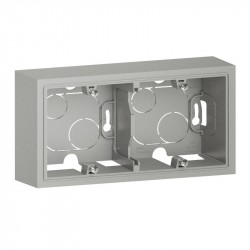 Cadre saillie 2 postes Dooxie Aluminium / Legrand