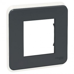 Unica Pro - plaque de finition 1, 2, 3, 4 postes ou 4, 6, 8, 10 modules - Anthracite