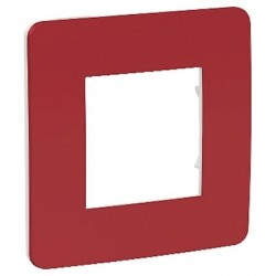 Unica Studio Color - plaque - Rouge cardinal liseré Blanc - 1, 2, 3 ou 4 postes