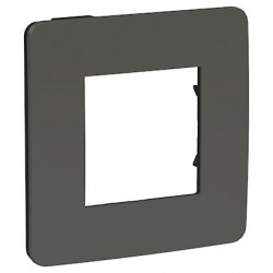Unica Studio Color - plaque 1, 2, 3 ou 4 postes - Gris foncé liseré Anthracite