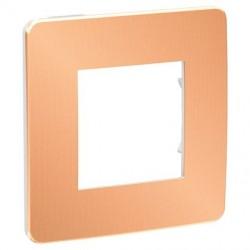 Unica Studio Métal - plaque - Cuivre liseré Blanc - 1, 2, 3 ou 4 postes