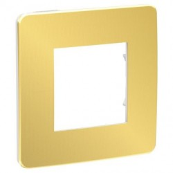 Unica Studio Métal - plaque - Or liseré Blanc - 1, 2, 3 ou 4 postes