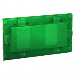 Unica - support de fixation 4 mod / 2 postes + protection chantier - plastique