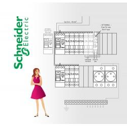 Tableau electrique Pré Cablé schneider jusqu'a 35 m2 (T1 / T1bis)