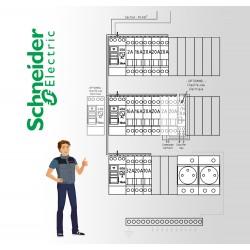 Tableau electrique Pré Cablé Schneider surface entre 35 m2 et 100 m2 (T1bis et jusqu'à T5)