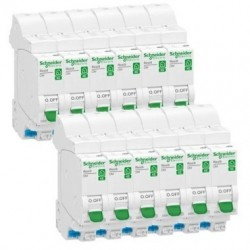 Lot de 12 disjoncteurs 20A embrochables / Schneider