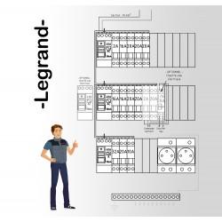 Tableau electrique Pré Cablé Legrand surface entre 35 m2 et 100 m2 (T1bis et jusqu'à T5)