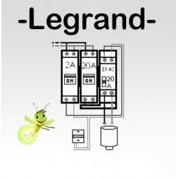 Option chauffe-eau électrique pour tableau Legrand complet