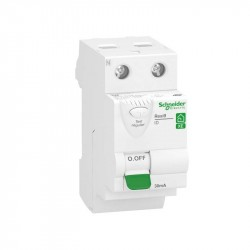 interrupteur différentiel 2P 63A 30mA Type AC embrochable Resi9 XE - 2 modules / Schneider Electric