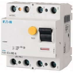 Interrupteur différentiel PFGM - 4x40A 30mA Type AC / EATON