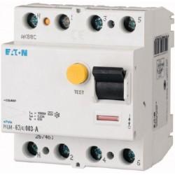 Interrupteur différentiel PFGM - 4x25A 30mA Type A / EATON