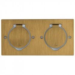 Réceptacle pour prise de sol Double rectangulaire Finition Bronze / Legrand