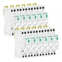 Lot de 12 disjoncteurs 10A peignables / Schneider