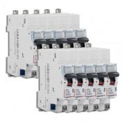 Lot de 10 disjoncteurs 16A sans vis / Legrand