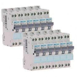 Lot de 12 disjoncteurs 10A à vis / Hager