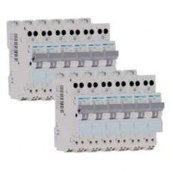Lot de 12 disjoncteurs 16A automatiques / Hager