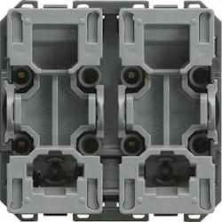 Interrupteur gallery 2 modules 2 poles 10A