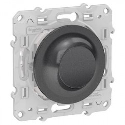 Variateur Poussoir Bluetooth Odace Wiser - Anthracite / Schneider
