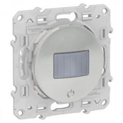Detecteur + interrupteur Bluetooth Odace Wiser - Alu / Schneider