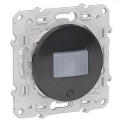 Detecteur + interrupteur Bluetooth Odace Wiser - Anthracite / Schneider