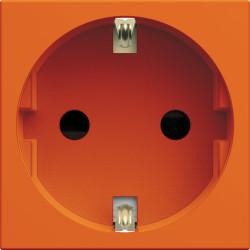 Prise de courant Schuko gallery 2P+T orange