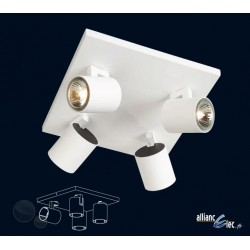 Vilnius Spot 4 x 50w Blanc Luminaire Podium Philips