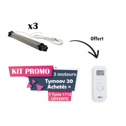 Kit Promo 3 moteurs Tymoov20 achetés + 1 Tyxia 1712 offerte / Deltadore