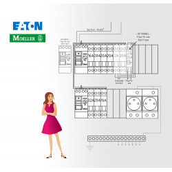 Tableau electrique Pré Cablé Eaton jusqu'a 35 m2 (T1 / T1bis)