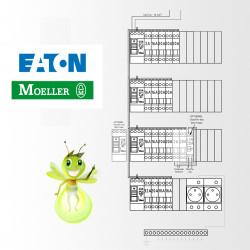 Tableau electrique Pré Cablé Eaton surface supérieur a 100 m2 (T6 et plus)