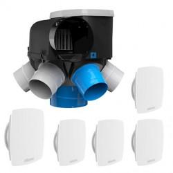 Kit VMC Autocosy IH auto intelligente 6 sanitaires / Atlantic