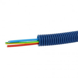 Conduit ICTA Chronofil bleu - courants forts - Ø20 mm - 3 conducteurs x 2,5mm / Legrand