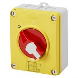 Interrupteur de proximité 4P 32A CADENASSABLE IP65 - Rouge / Gewiss
