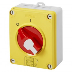 Interrupteur de proximité 3P 16A CADENASSABLE IP65 - Rouge / Gewiss