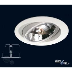 Dublin Spot encastré 1 x 50w Blanc Luminaire Podium Philips