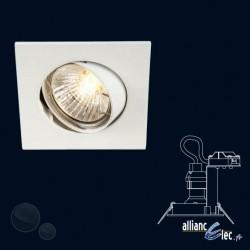 Bombay Spot encastré 1 x 50w Spot Carré Blanc Luminaire Podium Philips