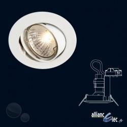 Bombay Spot encastré 1 x 50w Spot Rond Blanc Luminaire Podium Philips