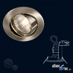 Bombay Spot encastré 1 x 50w Spot Rond Gris Luminaire Podium Philips