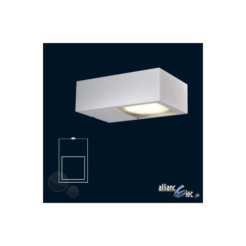 nexis applique murale 1 x 9w ip44 blanc luminaire ext rieur. Black Bedroom Furniture Sets. Home Design Ideas