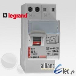 Interrupteur différentiel automatique 25A type AC Sans Vis 2P 30mA
