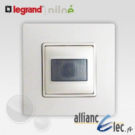 Interrupteur automatique 2 fils Legrand Niloe Pur Blanc