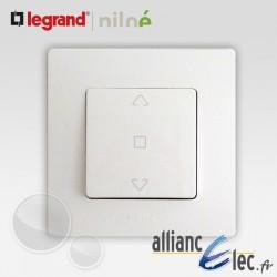 Interrupteur volet roulant 3 positions Legrand Niloe Pur Blanc