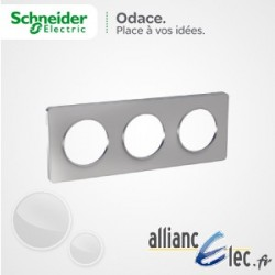 Plaque Alu 3 Postes entraxe 71 Schneider Odace Touch